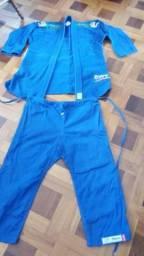 Quimono trançado Jiu-Jitsu Tohah Azul, Novíssimo