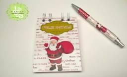 Bloquinhos e Canetas ou lápis personalizados