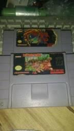 Super Metroid e Donkey Kong originais de Super Nintendo seminovas leia