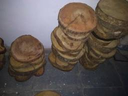 Bolachas de madeira rústicas