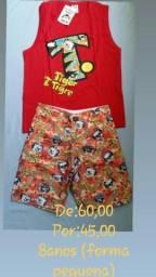 Promoção de roupas infantis