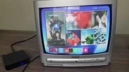 TV box 4K transforma tv de TUBO em Smart (entrega grátis)