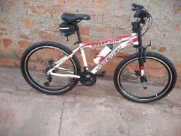 Bike de trilha e asfalto aro 26 alumínio freios a disco kites shimano