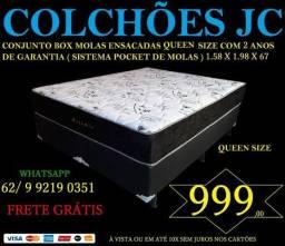 Conjunto Queen size promoção 999.00 2 anos de garantia
