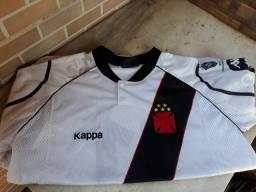 Camisa Oficial Kappa Vasco Centenário 1998 Tamanho G Branca Seminova (Raridade)