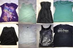 Camisas e camisetas femininas tamanho plus size