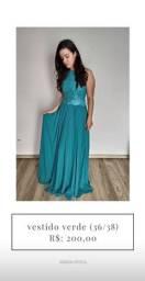 Vestido de festa verde (36/38)- temos outros modelos disponíveis