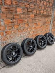 Título do anúncio: Rodas com pneus Goodyear