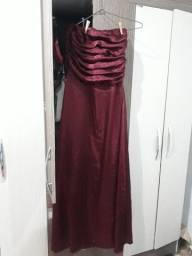 Vestido Festa Vinho  - G