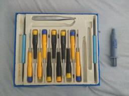 Kit para desmontar Celular e Notebook + Pasta Térmica
