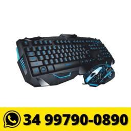 Título do anúncio: Kit Teclado e Mouse Usb Gamer B-max Led Rgb