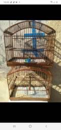 Vendo 2 gaiolas de trinca ferro e 1 de coleiro (vazia) conservada