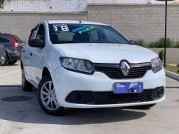Sandero Authentique 1.0 2018 Baixo KM... Lindo carro!