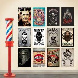 Placa Decorativa para Barbearia Barbeiro em MDF 3mm 20x28cm Quadro