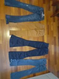 Calças  Jeans-CANTÃO- Calvin Klein - LOTE