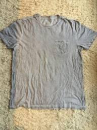 Título do anúncio: Camiseta Renner Cor Cinza Blue Steel Com Bolso 100% Algodão Tamanho G Impecável!