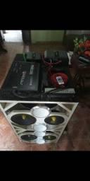 Título do anúncio: caixa com força e amplificador