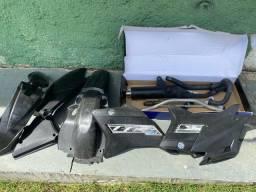 Kit de plástico, escapamento e guidão original TTR 230