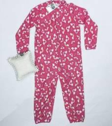Título do anúncio: Pijama Macacão Infantil Menina Inverno Frio Tamanho 6