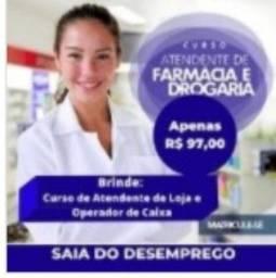 Título do anúncio: Atendente de farmácia