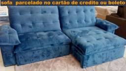 sofa retratil e reclinavel parcelado no cartão de credito ou boleto