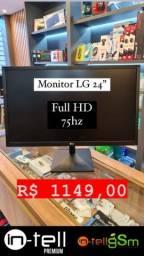 Monitor LG 24'' Full HD 75Hz Novo