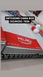Título do anúncio: $ CAMA CASAL MOLAS PELMEX+ 2 TRAVESSEIRO ENTREGA GRÁTIS