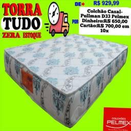 Entrega grátis de Colchao Casal com Espuma D33 Pelmex
