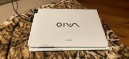 Título do anúncio: Notebook Sony Vaio Branco / verde