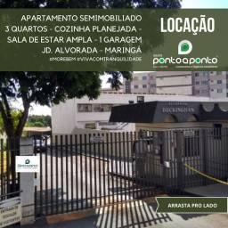 LOCAÇÃO | Apartamento, com 3 quartos em Jd. Alvorada, Maringá