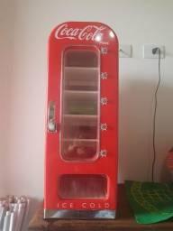 Mini geladeira cocacola press