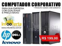Computador Corporativo Dual Core Dell Hp Lenovo com Garantia Black Friday até 12x