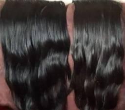 Vendo aplique humano 55 cm 2 telas cabelo bem cuidado
