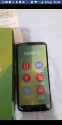 Troco meu Moto G6 64Gb novinho com nota fiscal. Leia