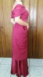 Vestido Vermelho Marsala de gala - seminovo