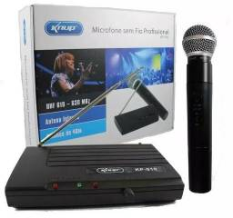 Microfone Sem Fio Profissional UHF kp-910