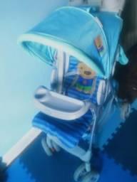 Carrinho de Bebê Fut Azul Puppy - Voyage