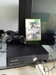 Video game Console Xbox 360 Slim com 1 controle e 1 jogo Super Conservado