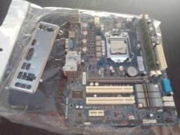 Kit de placa mae 1155 com processador .Intel i5
