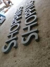 Letras, letreiro, fachada,