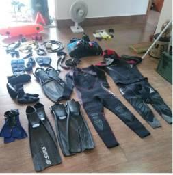 Equipamentos de Mergulho - kit completo - ótima qualidade