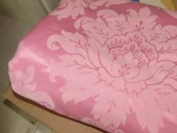 Tecido jacquard medalhão rosa