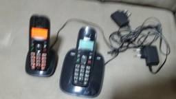 Telefone Sem Fio Impecavel Com Ramal Sem Fio 2 Aparelhos Novissimos Por 40 Tudo