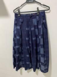 Saia Jeans M ( 40 ) forma pequena, semi novo , usado 1 vez