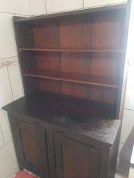 Antiguidade armário de cozinha em canela