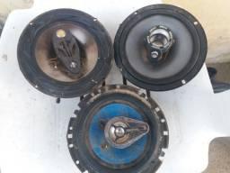 3 Bocas de auto falante de 6 Pol