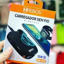 Caregador Sem Fio Wireless Duplo Hs-185