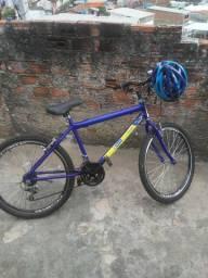 Bicicleta + 1 capacete Epic com led traseiro
