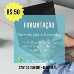 Formatação de Computador e Notebooks apenas $50 reais
