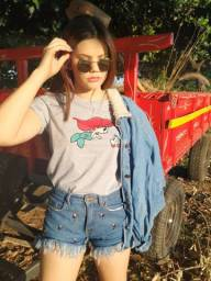 Camiseta feminina $13 atacado